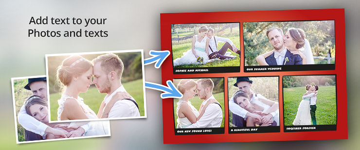 Personalised message: Your photos can tell their own story!