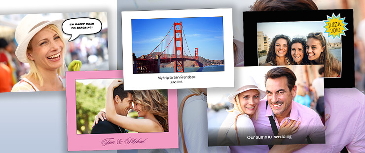 Creative layout templates for customising your photos